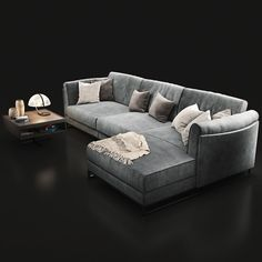 Sofa Natuzzi Armonia 2788 Professional, highly detailed model for architectural visualizations. Grey Sofa Bed, Couch, Furniture Upholstery, Outdoor Furniture, Scandinavian Sofas, V Ray Materials, Unique Sofas, Man Cave, 3d Projects