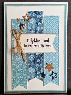 Konfirmations kort.     Jeg fandt noget turkis farvede papir   i min gemmer.   Da jeg ledte efter noget andet.   (Det fandt jeg ikke ...