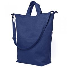 Recycled-Cotton Tote Bag: Navy