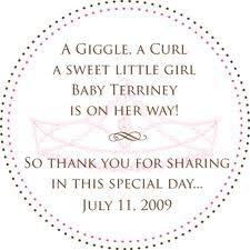cute baby girl shower invite