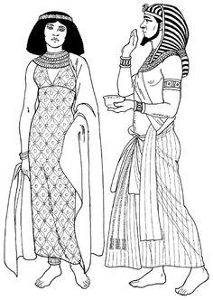 египетский фараон и знатная египтянка. костюмы