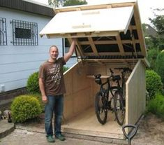 Shed Plans - For more great pics, follow bikeengines.com #bicycle #storage Fahrradgarage Now You Can Build ANY Shed In A Weekend Even If You've Zero Woodworking Experience!