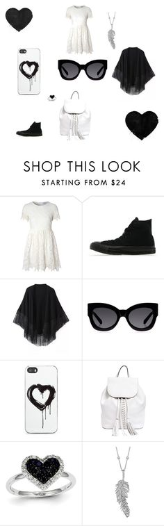 """""""Black Outfit"""" by coolgirl-101 ❤ liked on Polyvore featuring Glamorous, Converse, Relaxfeel, Karen Walker, Zero Gravity, Rebecca Minkoff, Kevin Jewelers and Penny Preville"""