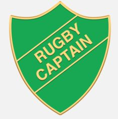 'Rugby Captain' shield badge with enamel infill, gold plated words and a superior Ballou clutch fixing. Various colours are available. *colours may vary slightly in shade due to differing monitor colours and manufacturing processes Size Rugby, Badges, Monitor, Enamel, Colours, Words, Shop, Polish, Name Badges