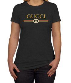awesome Gucci Logo Print  Women's T-Shirt