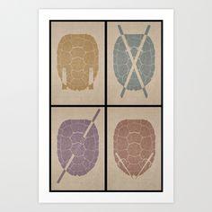 TMNT Art Print by S2lart   Society6