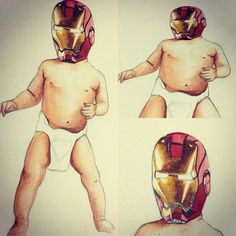 Baby Ironman painting