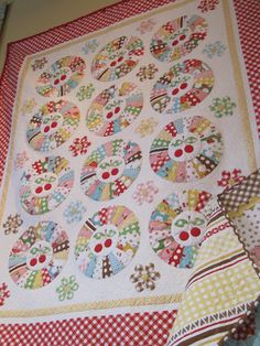 """""""Sew Cherry"""" quilt (from Stitchery Dickory Dock)"""