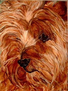 I would love a painting like this done of Toby my Yorkie!