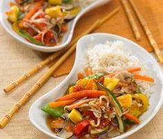rice + veggies w/ sweet + sour sauce Riced Veggies, Thai Red Curry, Paleo, Low Carb, Beef, Chicken, Cooking, Ethnic Recipes, Thumbnail Image