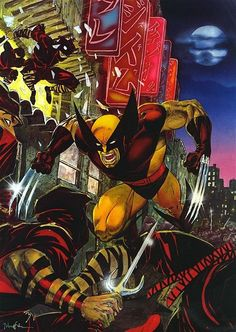 Wolverine in A Bad Night for the Ninjas by Jim Lee Comic Book Artists, Comic Book Characters, Comic Book Heroes, Comic Artist, Comic Character, Comic Books Art, Marvel Characters, Marvel Wolverine, Marvel Comics Art