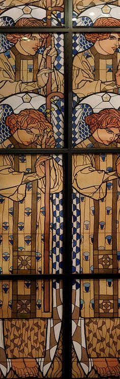 Koloman Moser Design for the angel window Otto Wagner Church - Koloman Moser — Wikipédia