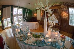 Beautiful ocean themed buffet by Greens Point Catering at the Gatehouse