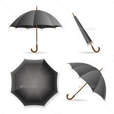 Red And Black Umbrellas  Black Umbrella