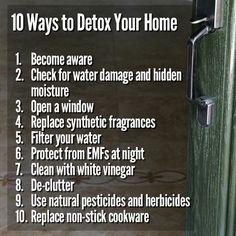 Want to make your home a safe refuge? Wondering how to deal with mold, chemicals,and other hazards. Consider these 10 suggestions! #toxicmold