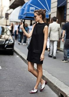 how to wear oxfords for women | Style Right Now: 25 Street Looks with Oxford Shoes