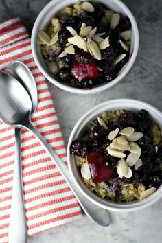 Mixed Berry Breakfast Quinoa Porridge - vegan and gluten free, but still so tasty, option for breakfast!