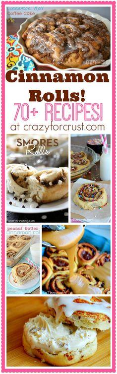 Over 70 Cinnamon Roll Recipes! | crazyforcrust.com