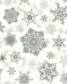 Holiday Flourish 8 - Enchanted Snowflakes - White/Silver