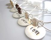 personalized wine charms