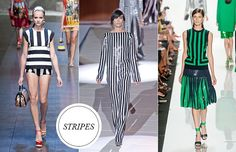 Whether skinny or super-thick, 2013 is poised to be the year of the stripe. Especially striking when worn on top and the bottom, graphic lines can be surprisingly chic and flattering.
