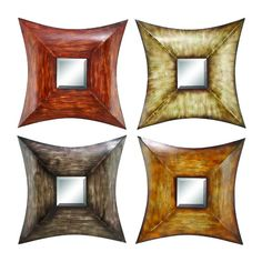 Features:  -Color: Red, brown and grey.  -Material: Rust free premium grade metal alloy.  -Makes for an impressive gift.  -Perfect to exhibit your passion for art.  Shape: -Square.  Style: -Traditiona