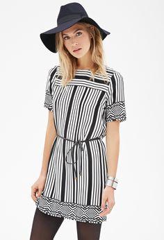 Striped Geo Print Dress | FOREVER21 - 2000099209