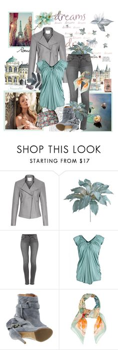 """""""Teal & Grey..."""" by nannerl27forever ❤ liked on Polyvore featuring Reiss, Pier 1 Imports, J Brand, Plein Sud Jeanius, Maison Margiela, Hermès and Vera Bradley"""