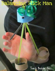 Balancing stick man toy