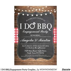 49 best engagement party invitations announcements images on i do bbq engagement party couples shower invite stopboris Images
