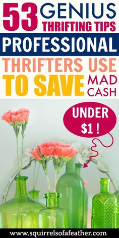 Read these 53 killer thrifting tips, grab your ride-or-die, and head for a day of thrift store shopping! May the thrifting odds be ever in your favor. Best Money Saving Tips, Ways To Save Money, Make Money Blogging, Money Tips, Saving Money, How To Make Money, Cash From Home, Make Money From Home, Thrift Store Crafts
