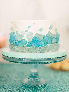 Turquoise Rock Candy Cake - Looks like Sea Glass