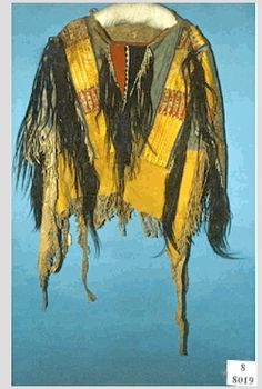 Sioux shirt coll. by Agent Teiss at Ft. Laramie ca 1855.  NMAI