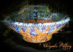"""""""Tranquility Fountain"""" by Chrysalis Pottery www.facebook.com/BarbJohnson.pottery"""
