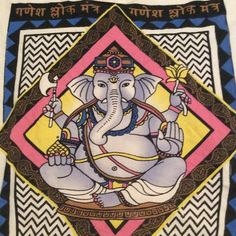 ganesha t shirt!! size small loose ganesha tshirt, off white color only been worn a handful of times! title unknown Tops Tees - Short Sleeve