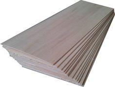 "Balsa Wood 12 Sheets 12"" X 3"" X 1/16"" (305mm X 75mm X 1.5mm) New"