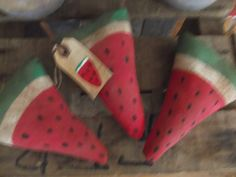 Primitive Watermelon Slices/Summer/Spring/Bowl by primitivecrows
