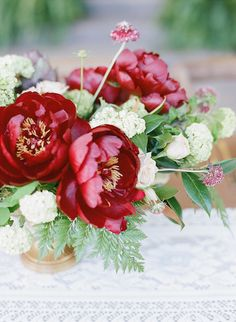 Red Charm Peony Centerpiece | Cori Cook Floral Design Blog • Floral Design for the Stylish & Distinct - Home - European Countryside Inspiration