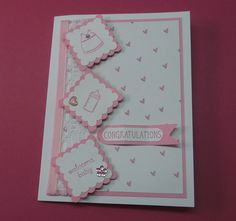 Baby card.  cased a card I saw by Lisa Martz
