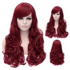 SHARE & Get it FREE | Outstanding Capless Long Deep Wavy Dark Red Fluffy Women's Synthetic Wig With Side BangFor Fashion Lovers only:80,000+ Items • FREE SHIPPING Join Nastydress: Get YOUR $50 NOW!