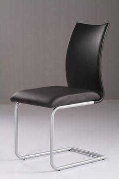 Durch seine schlichte Eleganz ist der Freischwinger für jeden Wohnraum ideal geeignet.