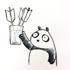 【一日一大熊猫】 2015.3.28 三ツ矢サイダーの日。 #三ツ矢サイダー