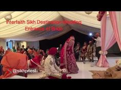 Interfaith Sikh Wedding Entrance of Bride