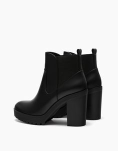 36a102604c27d Wide heel stretch ankle boots. Discover this and many more items in Bershka  with new products every week
