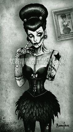 Screaming Demons Art: Graphic Artist - digital painting | Spooky Art