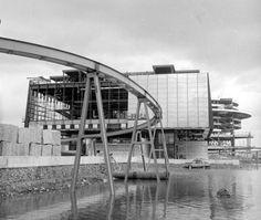 Expo 67 Construction du pavillon du Québec 2   by ixe93