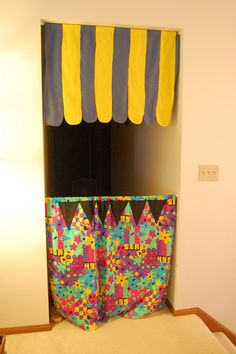 Puppet Theater:  Okay- this one is soooo simple that there's no excuse to not have one of these!