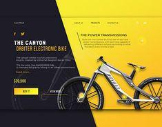 Landing Page for Electric Scooter Pal on Behance Website Design Inspiration, Banner Design Inspiration, Website Design Layout, Web Layout, Layout Design, Ui Ux Design, Game Design, Branding Design, Graphic Design
