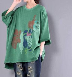 Loose Fitting Cotton Oversize T-Shirt Large size Bottoming