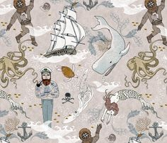 Spoonflower Fabric of the week voting: Cephalopods by nouveau_bohemian